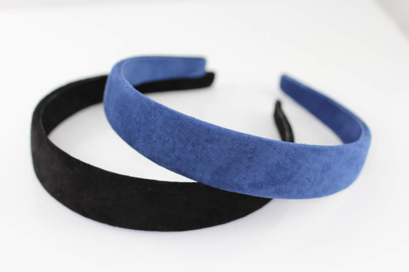 Suede Headband - French Navy - 25mm ba846269dc3