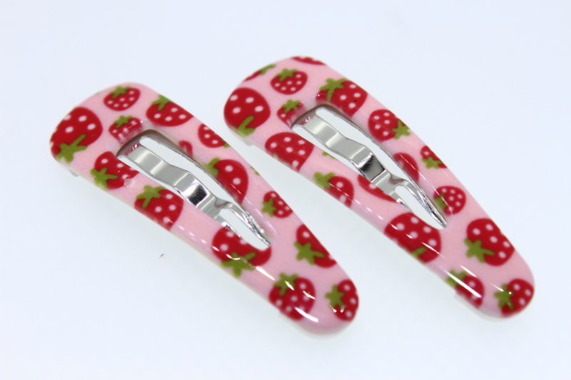 Strawberry Print 4cm Sleepins x2 - Various Colours