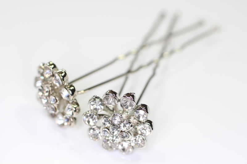 Vintage Crystal Hair Pin x2