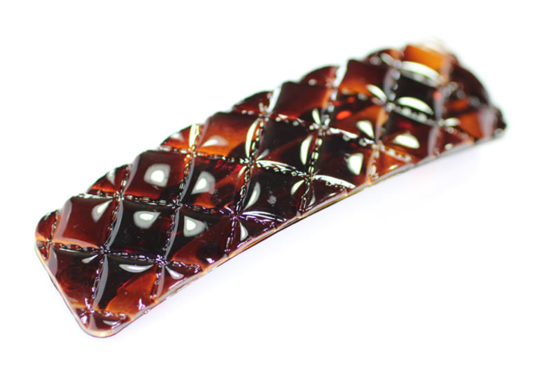 9cm Cushion Barrette - Various Finishes