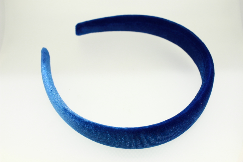 Stitched Velvet Low Padded Headband - 25mm
