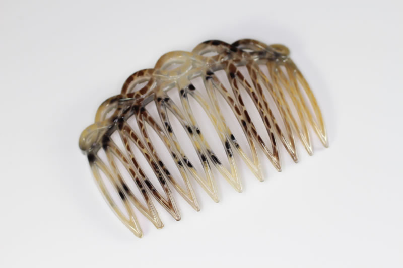 7cm Open Twisted Top Side Comb - Various Finishes