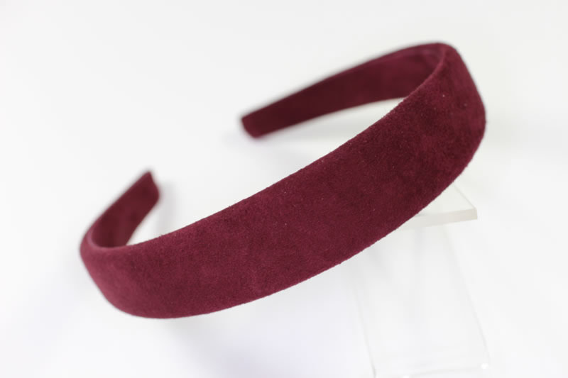 25mm Suede Headband - Various Finishes
