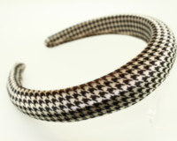 High Padded Velvet headband - 25mm