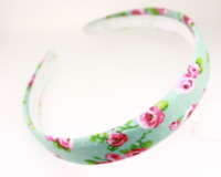 25mm Flower Print Headband - Various Colours